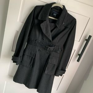 FRENCH CONNECTION | Classic Trench Wool Graphite 8